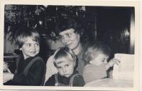 With children, cca 1959