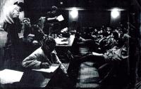 Monika Pajerova v Disku, dělá zápis, 1989