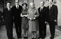 Rodina Dusových, Jaromír druhý zleva, Brno 1960