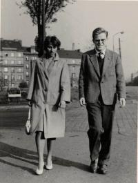 Anna Doležalová a Jaromír Dus, Praha asi 1959