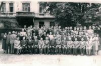 Profesoři a studenti Evangelické teologické fakulty, Praha 1960