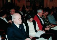 Anna a Jaromír Dusovi na koncertě, Španělský sál Pražského hradu 2004