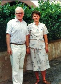 Anna a Jaromír Dusovi, 25. výročí svatby, Strassbourg, Francie 1991