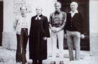 Tomáš Bísek se svým otcem a bratry