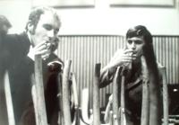 Ivan Binar with Luděk Nekuda in Okap