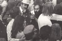 Organizing a protest on the occassion of the 10th anniversary of the occupation, Vienna; 1978