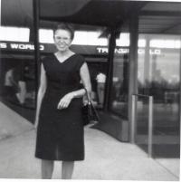 Červenec/srpen 1968, Vlasta Moravcová, vdova po gen. Moravcovi, Washington, D.C. USA