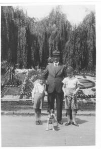 Mr. Hradec with his elder brother and father