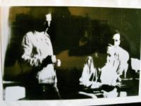 Jan Janků, lékárník na Mírově, první zleva