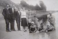 Koupání v řece Styr na Volyni