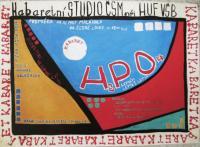 První plakát prvního představení divadelního spolku, kterého byl Edvard Schiffauuer členem. Pozdější Divadélko pod okapem bylo zpočátku Kabaretním spolkem při Hutnické fakultě Vysoké školy báňské v Ostravě.