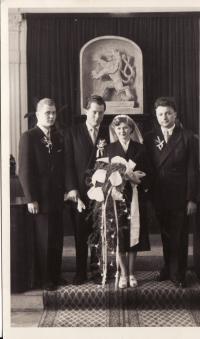 Svatba Miroslava Hampla a Evžénie Hajné-1955