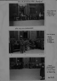 první den po válce v Prostějově