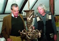 S Karlem Schwarzenbergem kdy zdobil rodinnou kapli v Murau v roce 2006