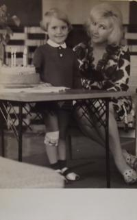 Photo with daugher in 1967