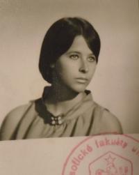 Kateřina Dejmalová - foto z výkazu o studiu