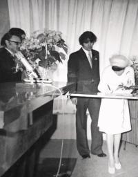 Kateřina Dejmalová - svatba s Ivanem Dejmalem v roce 1977