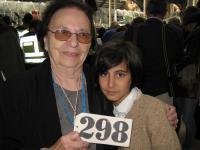 Dagmar Šímová se svou dětskou představitelkou během akce Winton Train v roce 2009