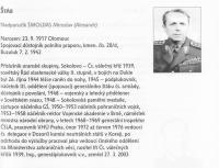 Medailon Miroslava Šmoldase z publikace od Miroslava Brože, Hrdinové od Sokolova