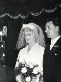 Riesel Petr - wedding photo, 1963 or 1964