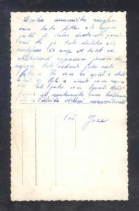 Ukázka korespondence Josefa Zeleného s matkou během války