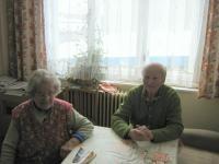 Rudolf Parobek s manželkou Františkou v lednu 2010