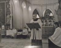 02 - mše v Kutné Hoře Sedlci - rok 1970