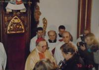 11 - leden 1990 - uvedení biskupa Očenáška do úřadu