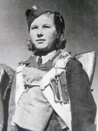 Valentina (Vanda) Biněvská jako příslušnice 2. paradesantní brigády