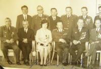 Vanda Biněvská při setkání příslušníků 1. čs. armády v roce 1971
