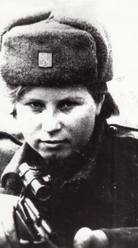Vanda Biněvská Buzuluk 1942 snajperka