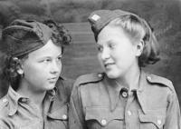 Jefremov 1944 Vera Rajchlová a Věra Biněvská