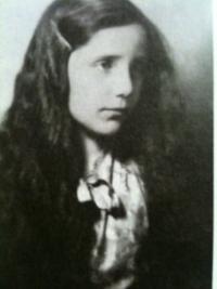 Erika as a young girl