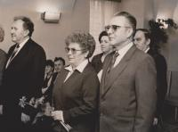 Svatební fotografie Brigity a Emila Pastuška, 22. března 1986