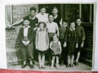 Skupina dětí v Stoke on Trent 1939