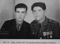 With his older brother Ivan, 1945