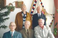 Sitting from the left: František Wawrečka, Jan Koukol, Josef Hercz; standing (from the left): Stanislav Hnělička, Josef Polívka, 2007