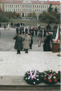 Commemorative ceremony, from the left: Miroslav Masopust, Jan Koukol