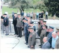 Commemorative ceremony, Jan Koukol is the first from the left side