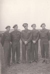 From the left: Pokorný, Beran, Karel Vrdlovec, Suchánek, Jan Koukol, Myslív 1945