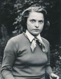 Věra Nováková, v Bráníku, 50.léta