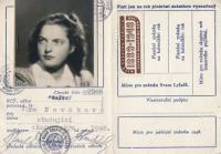 Věra Nováková, legitimace, 1948