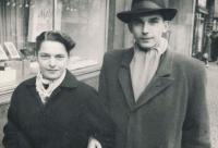 Věra a manžel Pavel, 1950
