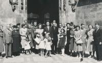 Věra a Pavel, svatba, 1950
