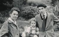 Věra, Pavel a dcera Kateřina, 1960