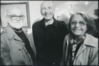 Věra Nováková a Pavel Brázda s Ivanem Sobotkou, Galerie Milénium.