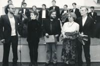 Věra a Pavel, Pražské kulturní centrum, 1992, z leva: Michal Blažek,  Tereza Pokorná, Vladimír Just.