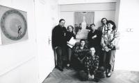 Zlín, 1992, z leva: p. Kuběna, Věra, Pavel Petr, Erik Frič, Pavel Brázda