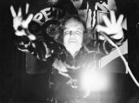 Petr Hanzlík na diskotéce v Dělnickém domě v Prostějově, rok 1974