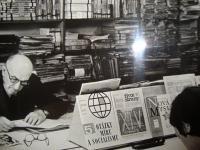 Father Vladimír Ficek with his library
